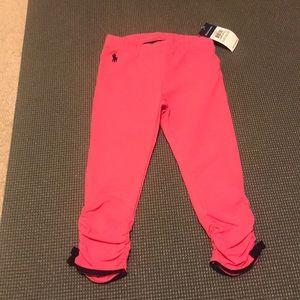 Girls pink/navy leggings.